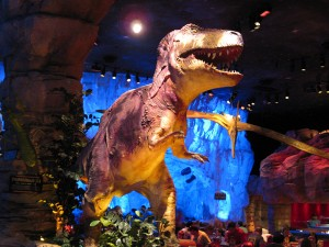 Dinosaur-greeter-T-Rex-Downtown-Disney
