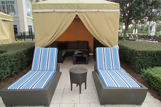 Waldorf Astoria Orlando private pool cabanas