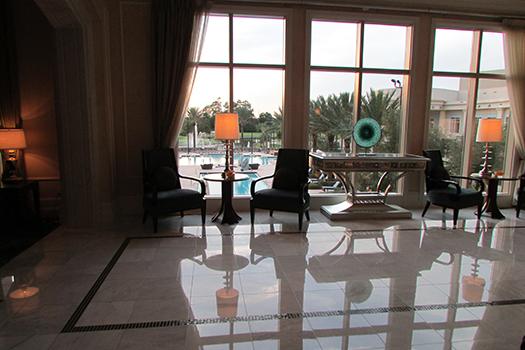 waldorf astsoria lobby pool view