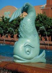dolphin-statue
